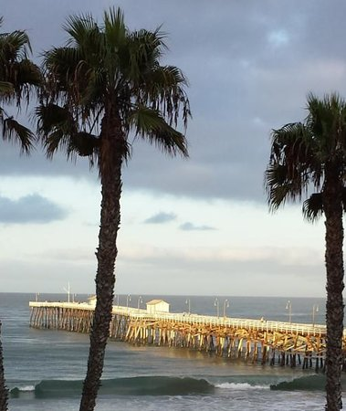 Seahorse Resort: View of the pier from our room.