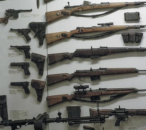 National Museum of Military History : diverse handwapens