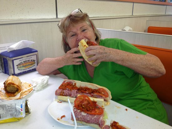 White House Sub Shop: I know I have a big mouth, but....!