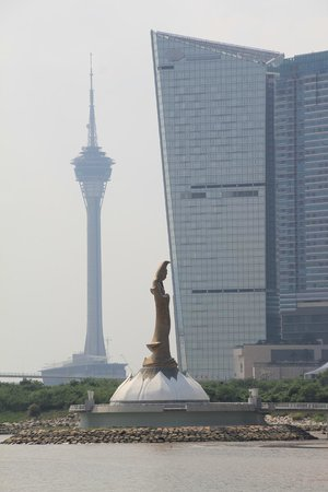 Macao Science Center: View of Macau tower from Science center