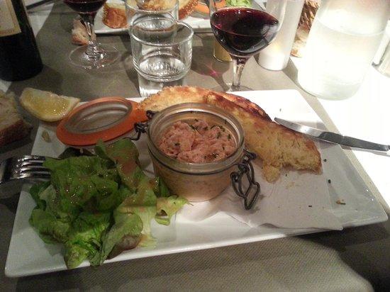 Brasserie La Cantine de Deauville : Hors d'oeuvre pâté de saumon