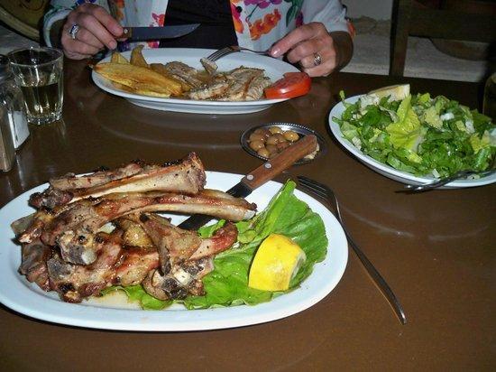 The Hope To Rakadiko Tou Kamari : so i ordered Lamb Chops   delicious