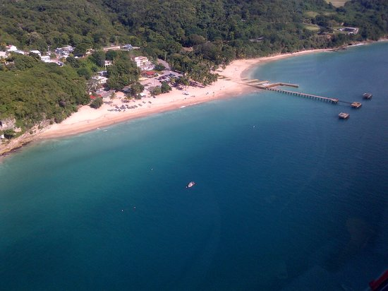 Crashboat Beach: Crash Boat Beach from the air