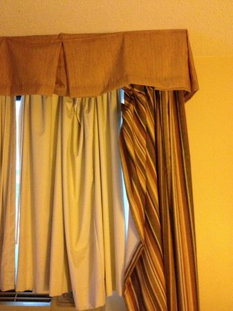 Curtains as we arrived - Picture of Red Roof Inn Queens, Long ...