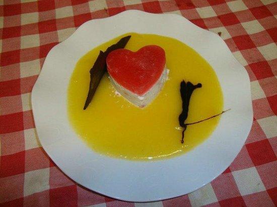 Restaurante Chipi Chipi: Postre especial San Valentin, espectacular