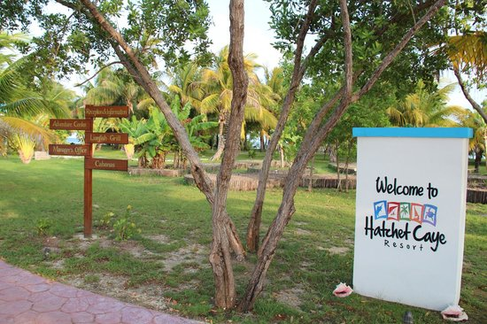 "Hatchet Caye Resort: Island ""Street Signs"""