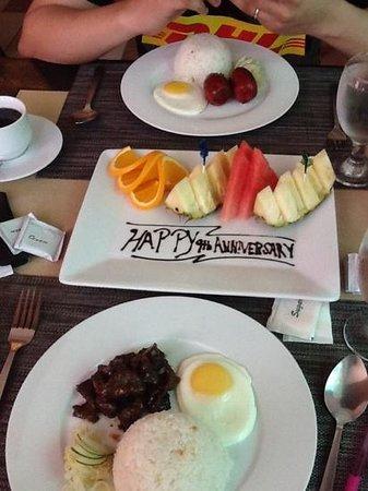 завтрак на годовщину
