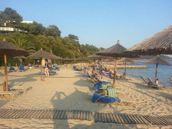 Eagles Palace: The hotel beach