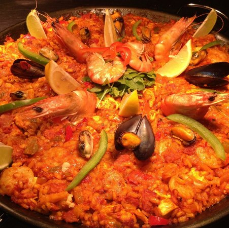 Twisted Lemon Paella for Four