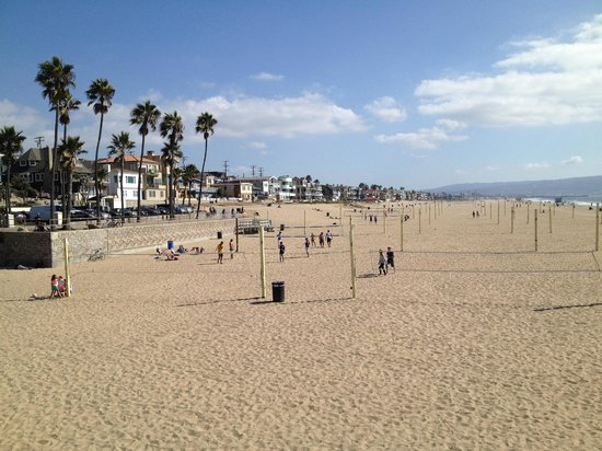 Manhattan Beach, Kaliforniya: Volley Ball Nets on the Beach