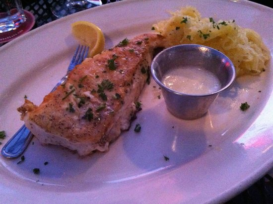 Pappadeaux Seafood Kitchen: Halibut with Spaghetti Squash