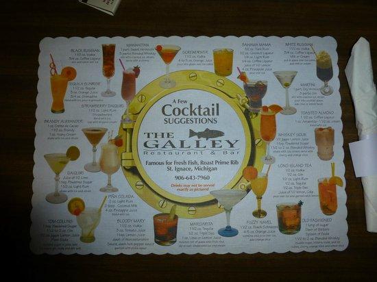 The Galley Restaurant: Cocktail-Karte