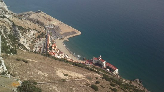 Muthu Grangefield Oasis Club: gibraltar beach from top of rock