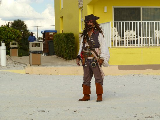Sandpiper Gulf Resort: It was a pirate weekend, and this guy visited