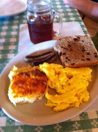 "Whispering Orchards: ""Kugel"" breakfast special, MMMMMM! Good!"