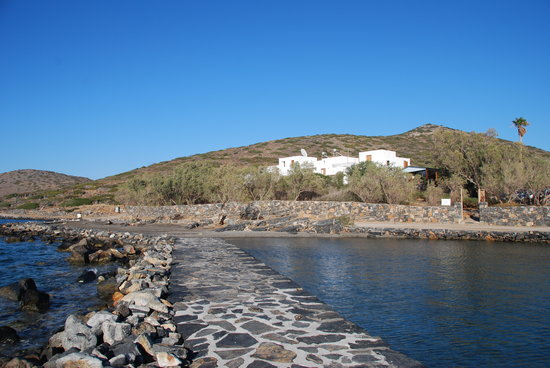 Elounda Island Villas vanaf pier voor de deur