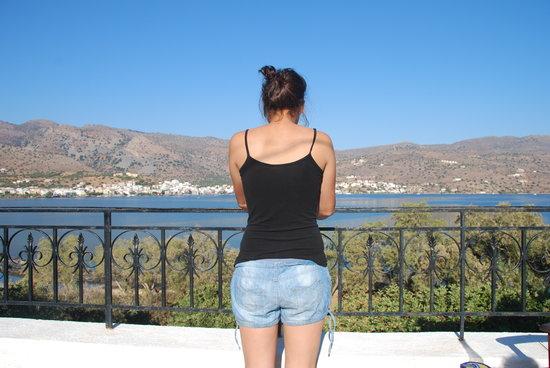 Elounda Island Villas : uitzicht vanaf balkon