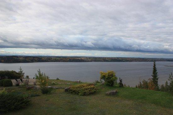 Auberge La Tourelle du Fjord : la vue de notre chambre