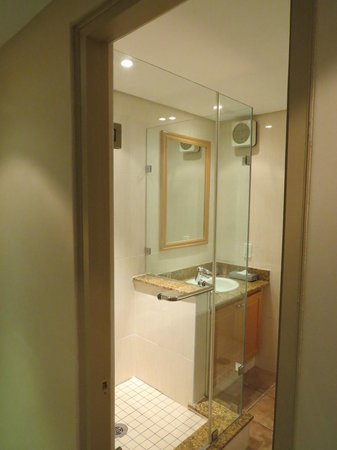 Protea Hotel by Marriott Johannesburg Balalaika Sandton: There's a tub on the other side of the bathroom
