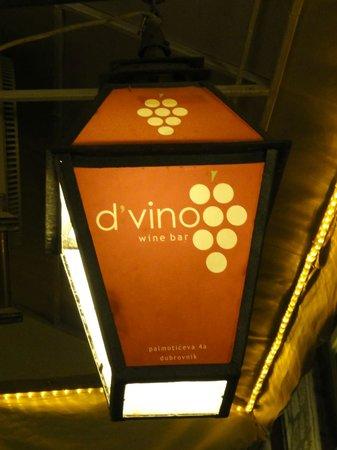 D'vino Wine Bar: The D'vino lantern