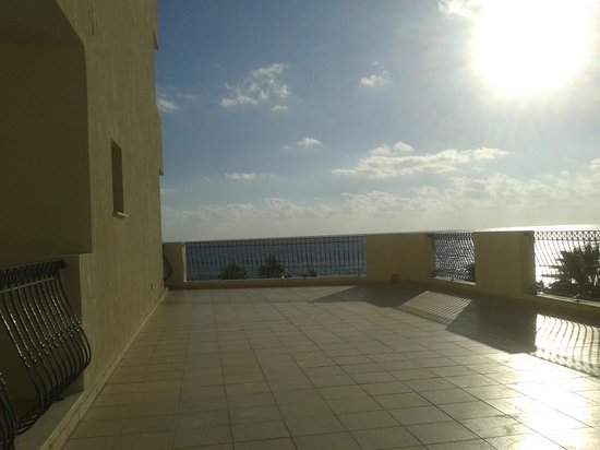 Aquamare Beach Hotel & Spa : 233 & 235 shared sea view terrace (plus own balcony)