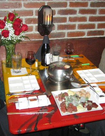 The Melting Pot: Main course table setting