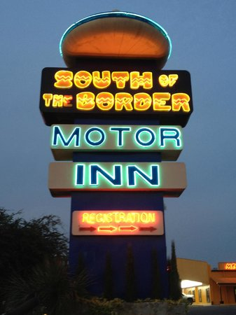 South of the Border: Classic Sign Welcomes You As You Drive Up..