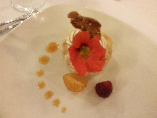 Sarah Bernhardt Restaurant : Excellent dessert, charlotte meringuée à l'abricot