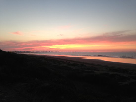 Pullman Mazagan Royal Golf & Spa: Sunset over El Jadida from Pullman Hotel Beach