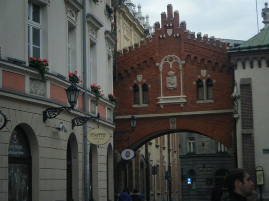 Vienna House Easy Cracow: Charming area - one of many archways in Krakow Town Square