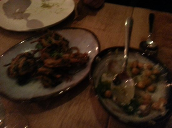 Zumbura: Not very good photo of an excellent meal.