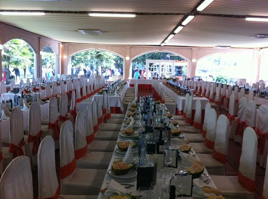 Hotel Bedunia: nos dejaron sacar una foto del comedor