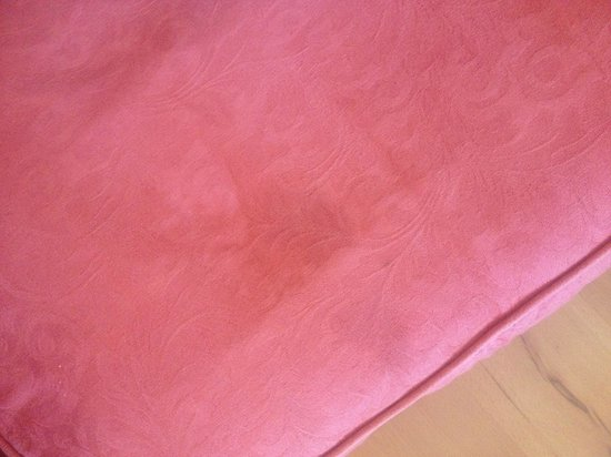 Lochend Serviced Apartments: Stains all over sofa and it smelt of stale cigarette smoke all around the apartment and furnishi