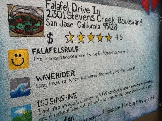Falafel Drive-In: Wall Art Says It All
