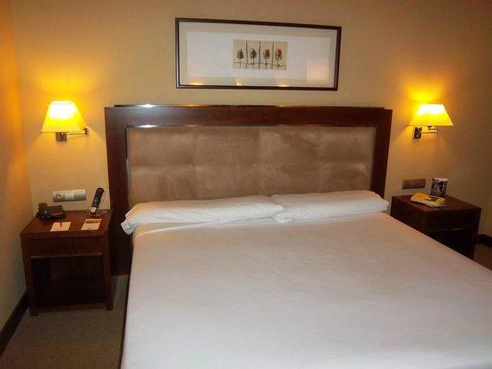Hotel Nuevo Madrid: Cama gigante