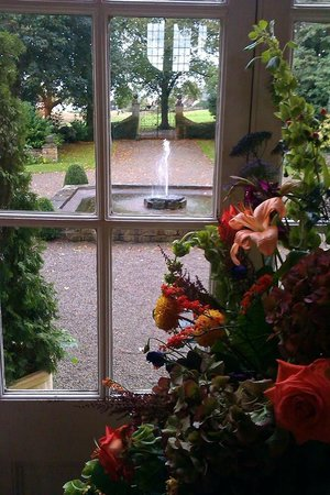 Headlam Hall Hotel Spa & Golf: View from the drawing room, where tea is served