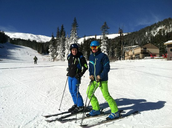 Main Street Sports: Owner and Manager skiing on Opening day at Loveland 10/17/13