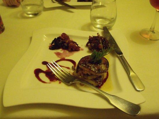 Auberge du Fiacre : duck liver starter