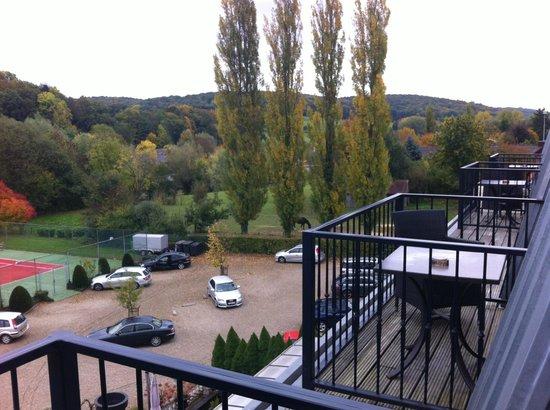 Parkhotel het Gulpdal: UItzicht vanuit de kamer op de achterzijde van het hotel 3