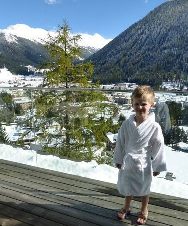 Waldhotel Davos: Aussicht vor dem Pool
