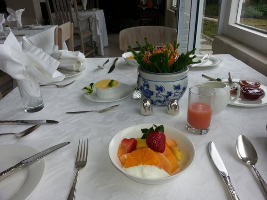 Hermanus Beach Villa: Delicious fresh fruit & yoghurt