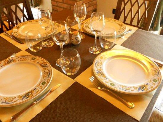 Hosteria Mattta: il nostro tavolo colorato