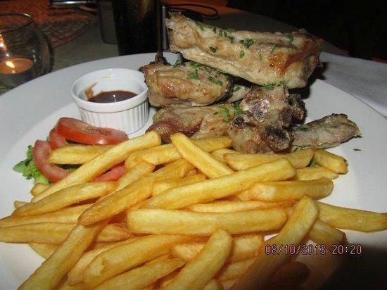 Alfagar II Aparthotel: Kjempe god spare ribs