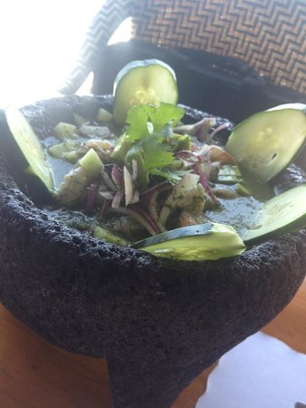 The Point at Calafia: Ceviche...very yummy ask for not too spicy if you don't like too spicy.