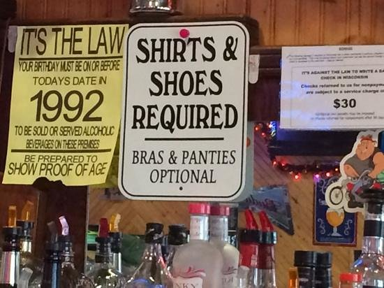 Hager City, WI : Biker Bar rules
