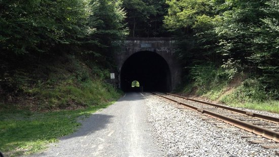 Great Allegheny Passage Trail: Brush Tunnel near Frostburg, MD