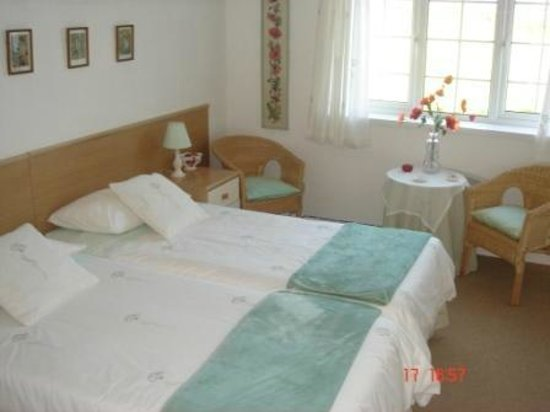 The Grange Bed and Breakfast : Twin bedded room with in suite shower room