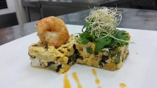Restaurante HPC Portocolom: sujerencia del chef. rebuelto de ajetes tiernos y gambas