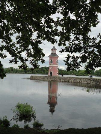 Blick zum Schloss Moritzburg - Bild von Churfürstliche Waldschänke ...