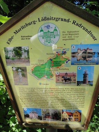 Churfürstliche Waldschänke Moritzburg: Radrundweg - Hinweisschild